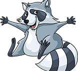 Salem Heights Elementary racoon logo
